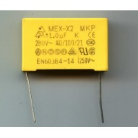 1мкф 280VAC ±10% Class X2-MKP